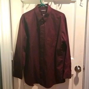 Claybrooke Burgundy Buttondown